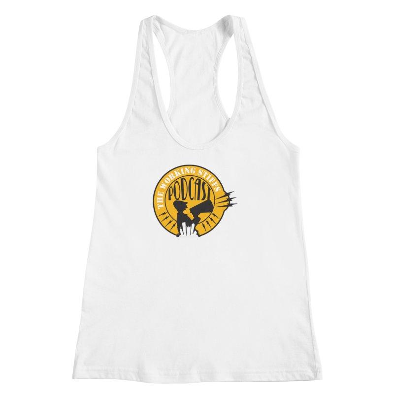 The Working Stiffs Podcast Logo Women's Racerback Tank by The Working Stiffs Shop