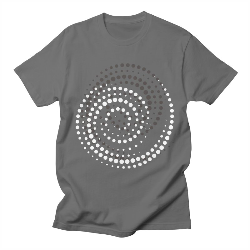 White Dotted Spiral Men's T-Shirt by Working Whatnot's Artist Shop