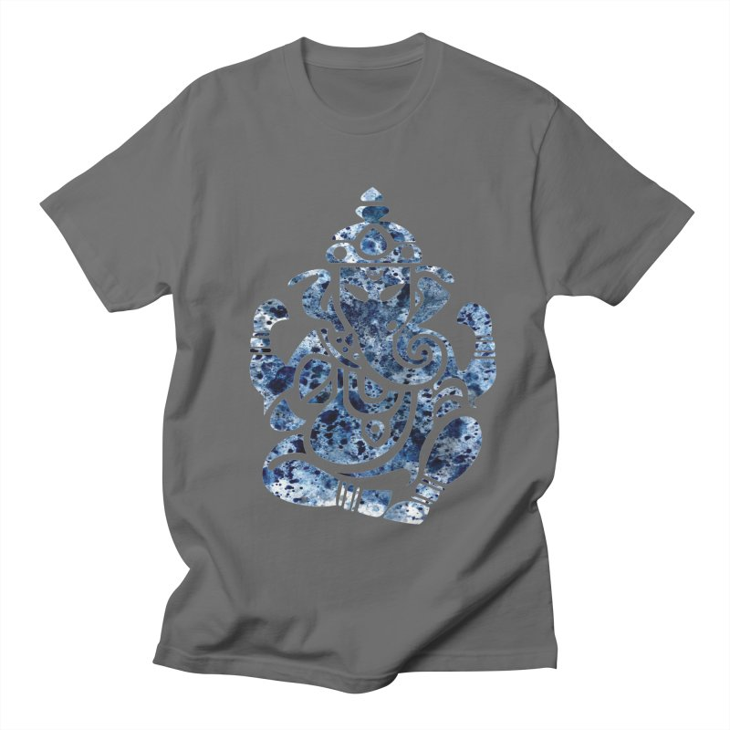 Blue Buddha Elephant Men's T-Shirt by Working Whatnot's Artist Shop