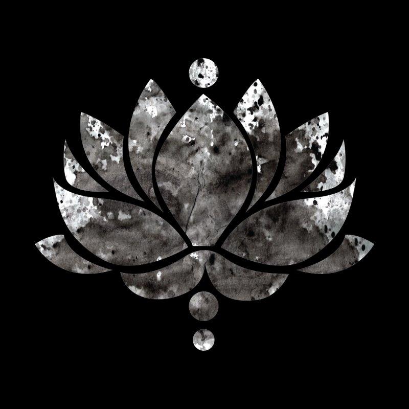 Black Lotus Flower Men's T-Shirt by Working Whatnot's Artist Shop