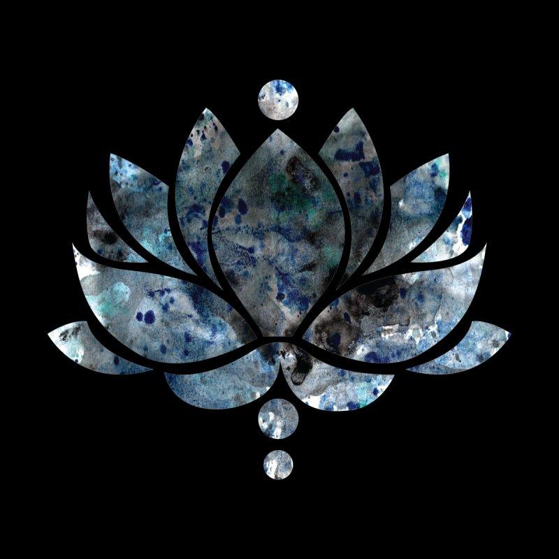 Blue & Black Lotus Flower Men's T-Shirt by Working Whatnot's Artist Shop