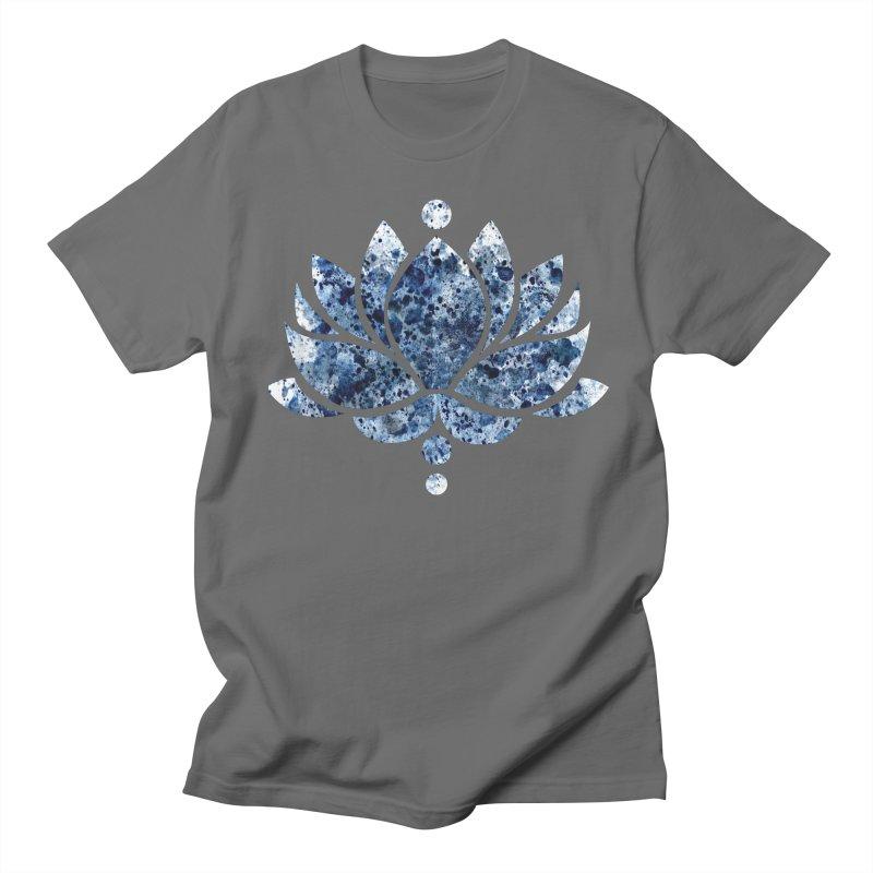 Blue Lotus Flower Men's T-Shirt by Working Whatnot's Artist Shop