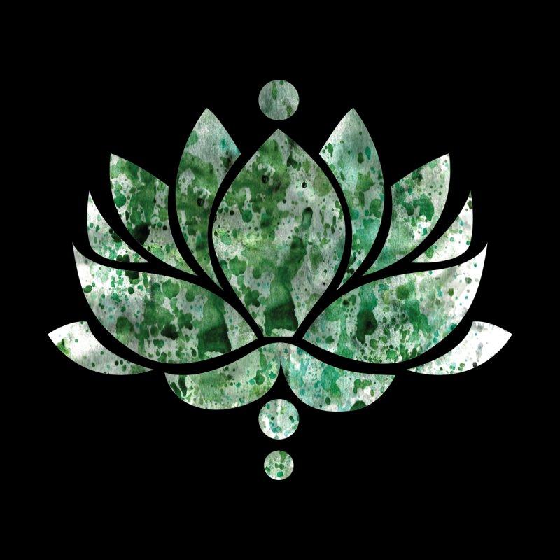 Green Lotus Flower Men's T-Shirt by Working Whatnot's Artist Shop
