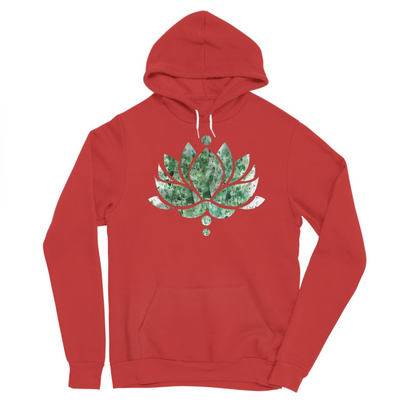 Green Lotus Flower Women's Pullover Hoody by Working Whatnot's Artist Shop