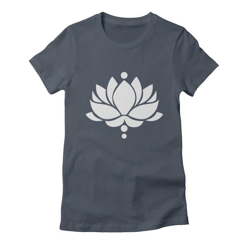 Light Grey Lotus Flower Women's T-Shirt by Working Whatnot's Artist Shop