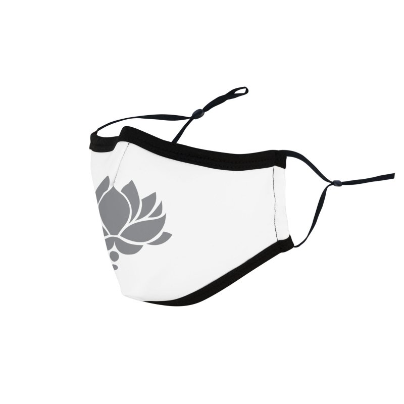 Grey Lotus Flower Accessories Face Mask by Working Whatnot's Artist Shop