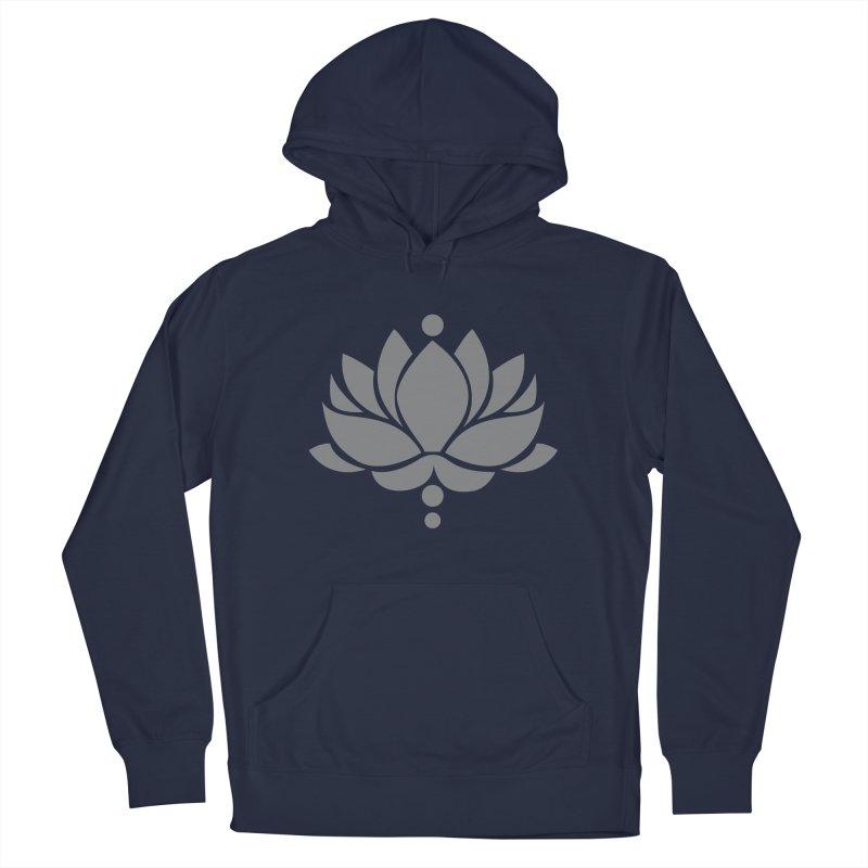 Grey Lotus Flower Men's Pullover Hoody by Working Whatnot's Artist Shop