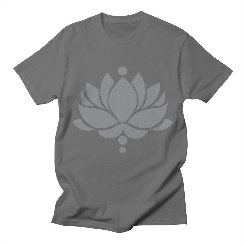 Grey Lotus Flower Men's T-Shirt by Working Whatnot's Artist Shop