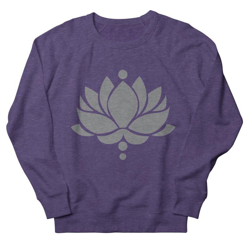 Grey Lotus Flower Men's Sweatshirt by Working Whatnot's Artist Shop