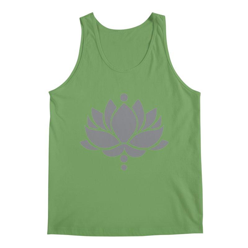 Grey Lotus Flower Men's Tank by Working Whatnot's Artist Shop