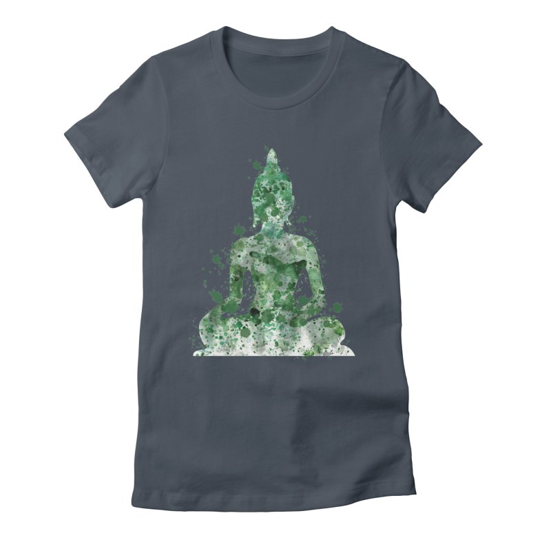 Green Buddha Bliss Women's T-Shirt by Working Whatnot's Artist Shop