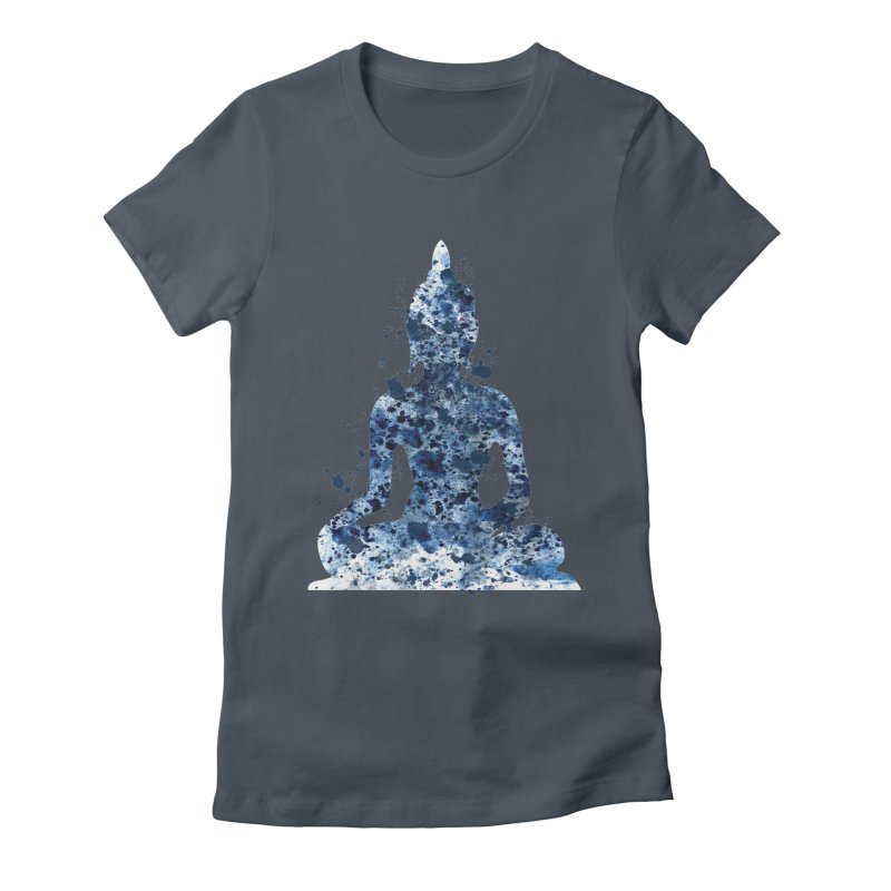 Blue Buddha Bliss Women's T-Shirt by Working Whatnot's Artist Shop