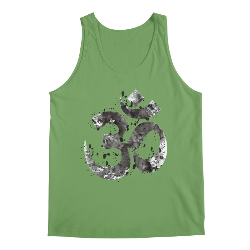Om Symbol - Black Ink Men's Tank by Working Whatnot's Artist Shop