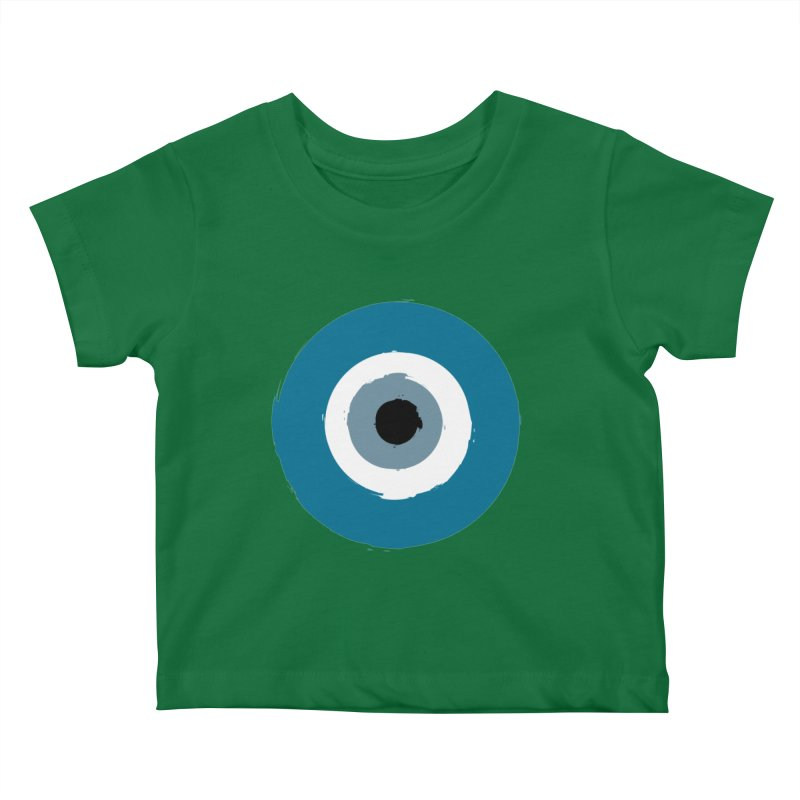 The Evil Eye Kids Baby T-Shirt by Working Whatnot's Artist Shop
