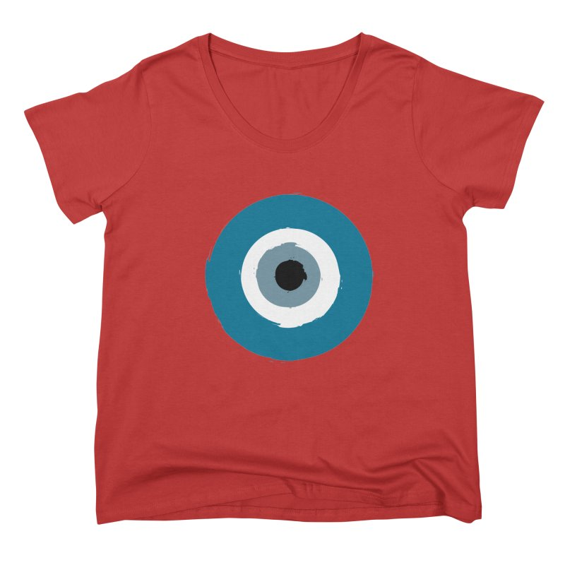 The Evil Eye Women's Scoop Neck by Working Whatnot's Artist Shop