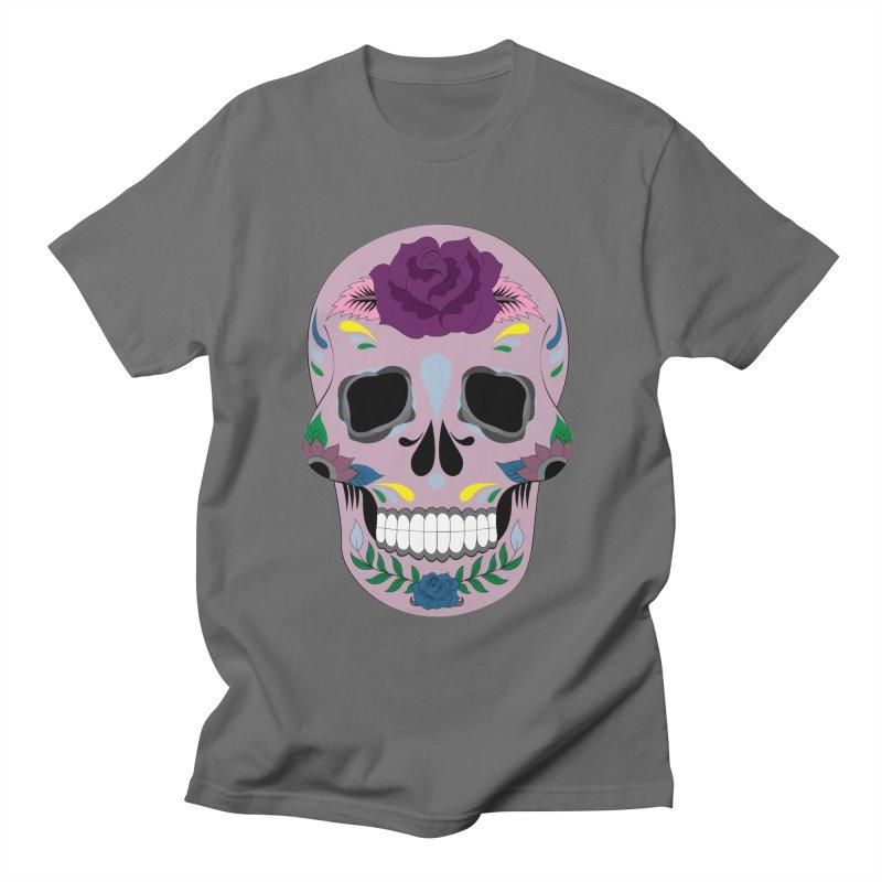Pink Sugar Skull Men's T-Shirt by Working Whatnot's Artist Shop