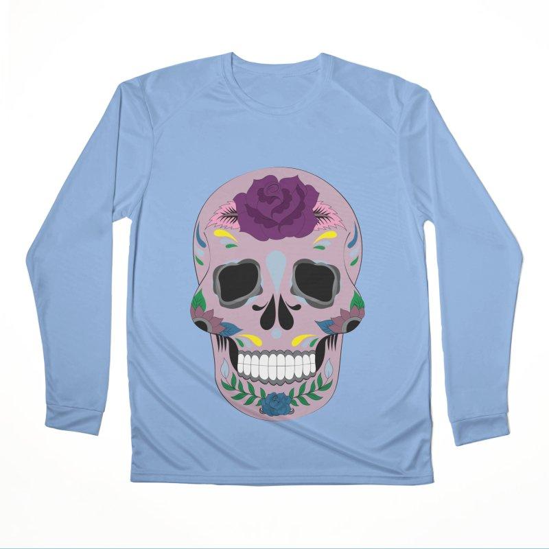 Pink Sugar Skull Women's Longsleeve T-Shirt by Working Whatnot's Artist Shop