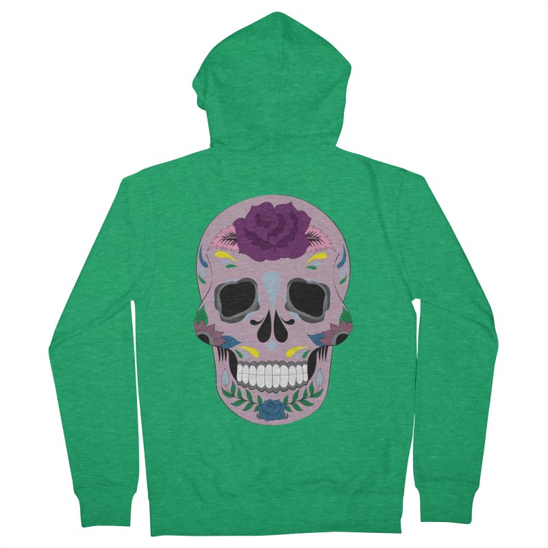 Pink Sugar Skull Women's Zip-Up Hoody by Working Whatnot's Artist Shop
