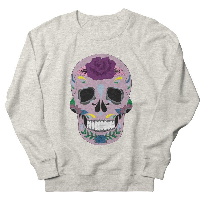 Pink Sugar Skull Men's Sweatshirt by Working Whatnot's Artist Shop