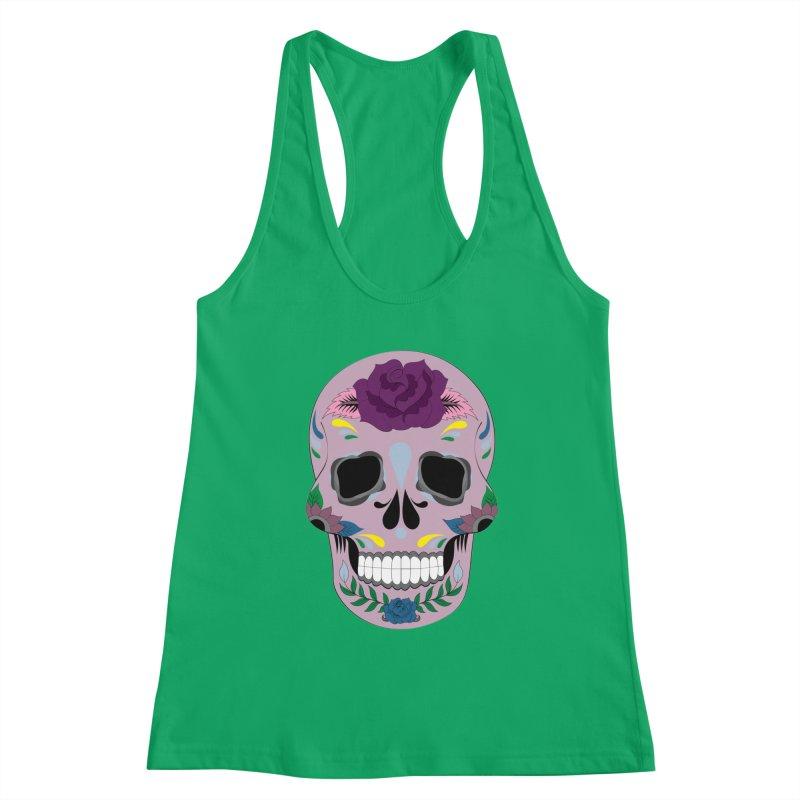 Pink Sugar Skull Women's Tank by Working Whatnot's Artist Shop