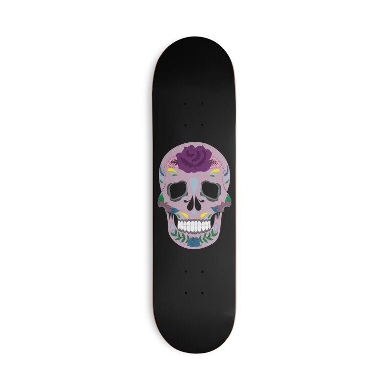Pink Sugar Skull Accessories Skateboard by Working Whatnot's Artist Shop