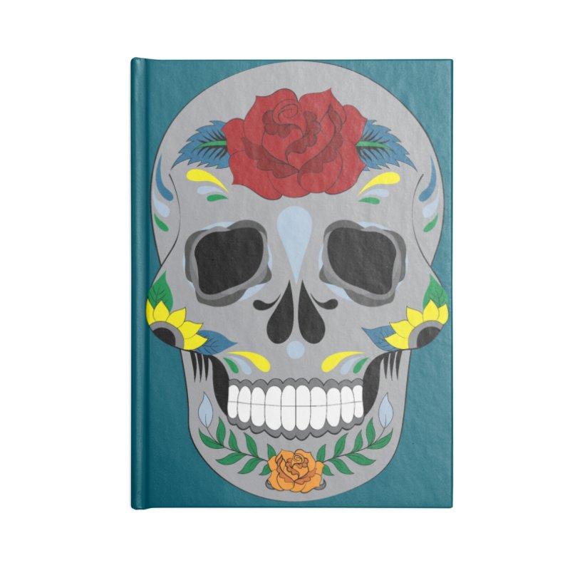 Sugar Skull Accessories Notebook by Working Whatnot's Artist Shop