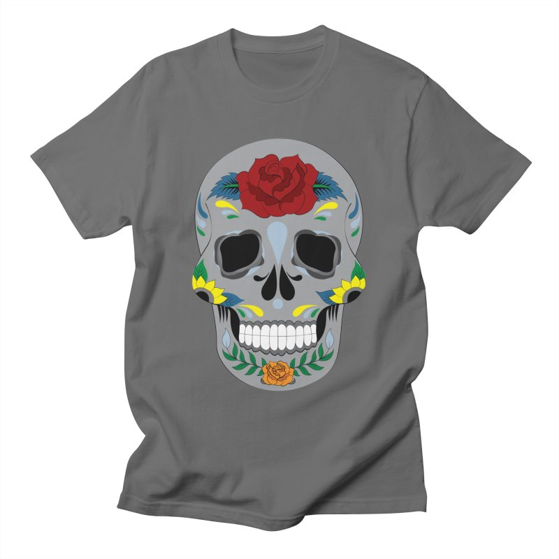 Sugar Skull Men's T-Shirt by Working Whatnot's Artist Shop