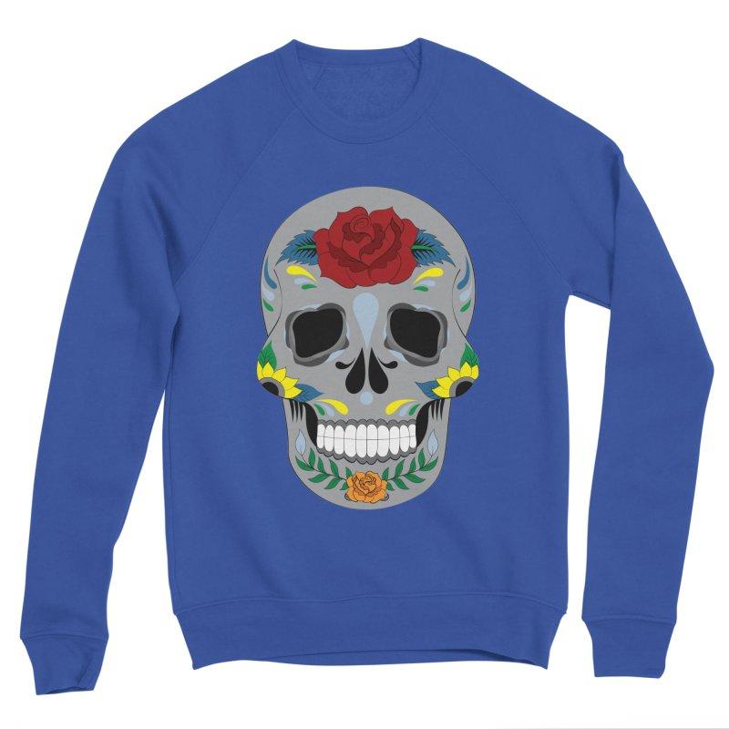 Sugar Skull Men's Sweatshirt by Working Whatnot's Artist Shop