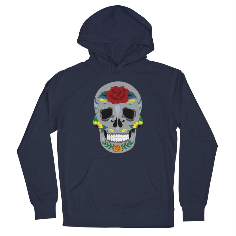 Sugar Skull Men's Pullover Hoody by Working Whatnot's Artist Shop