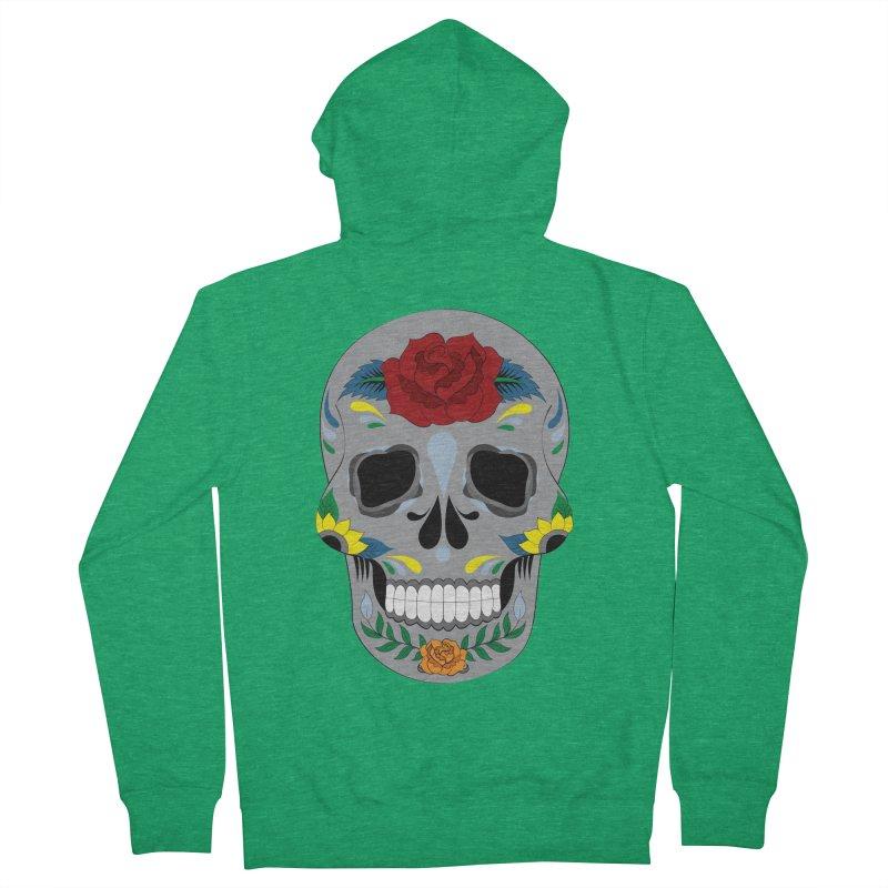 Sugar Skull Women's Zip-Up Hoody by Working Whatnot's Artist Shop