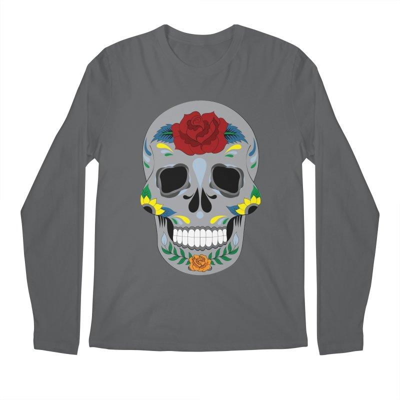 Sugar Skull Men's Longsleeve T-Shirt by Working Whatnot's Artist Shop