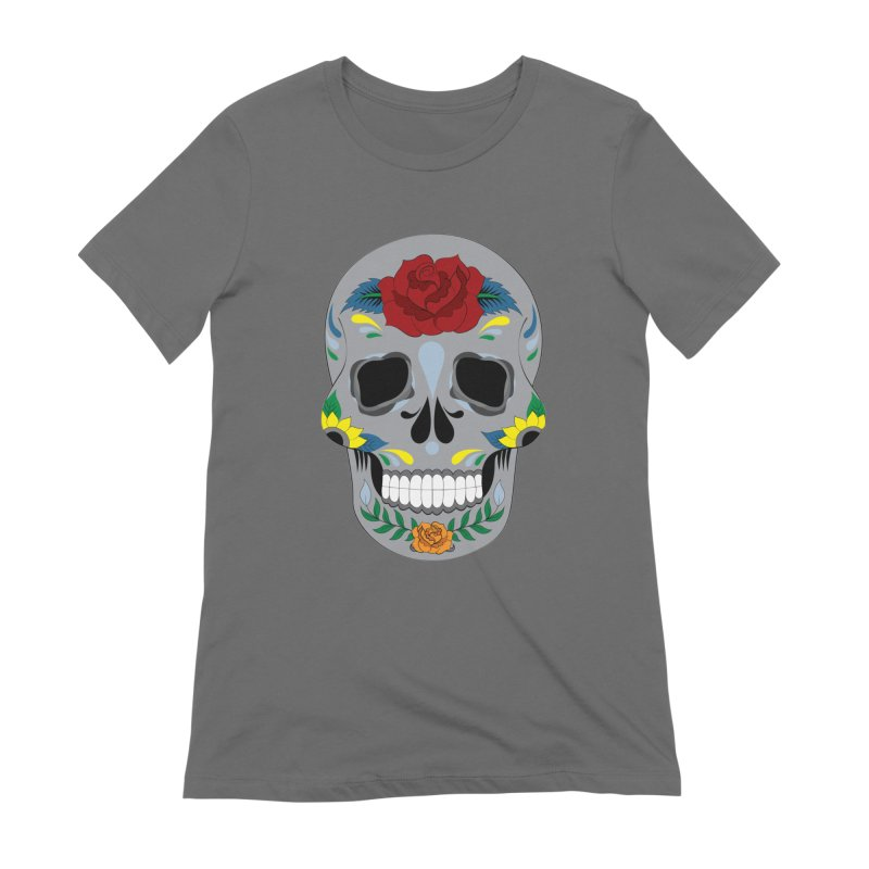 Sugar Skull Women's T-Shirt by Working Whatnot's Artist Shop