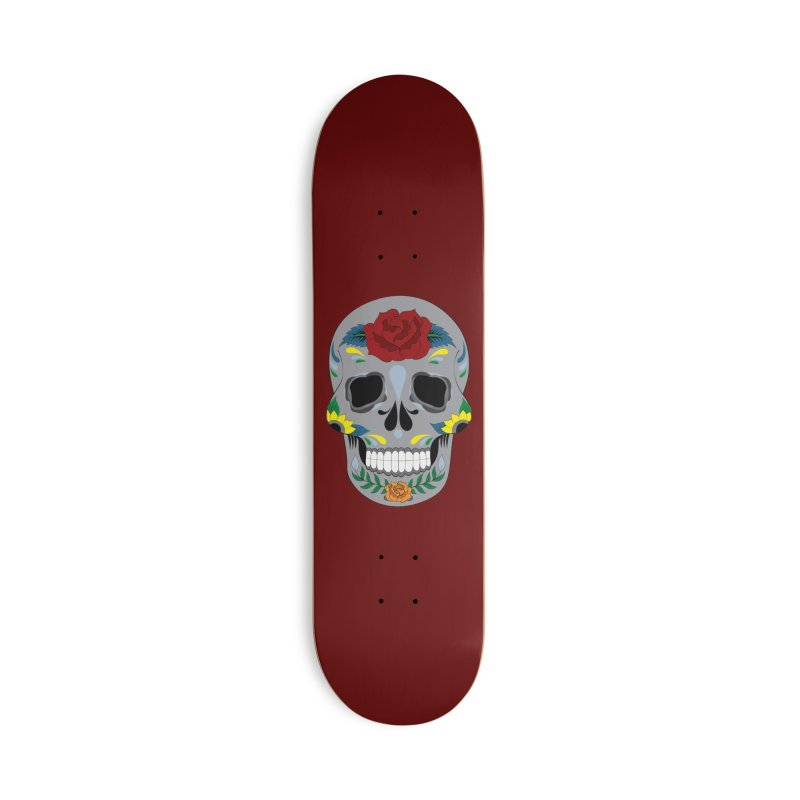 Sugar Skull Accessories Skateboard by Working Whatnot's Artist Shop