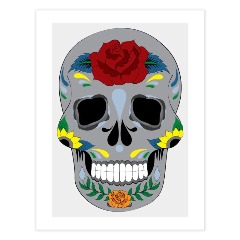 Sugar Skull Home Fine Art Print by Working Whatnot's Artist Shop