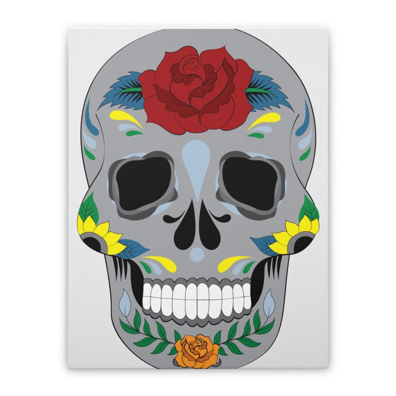 Sugar Skull Home Stretched Canvas by Working Whatnot's Artist Shop
