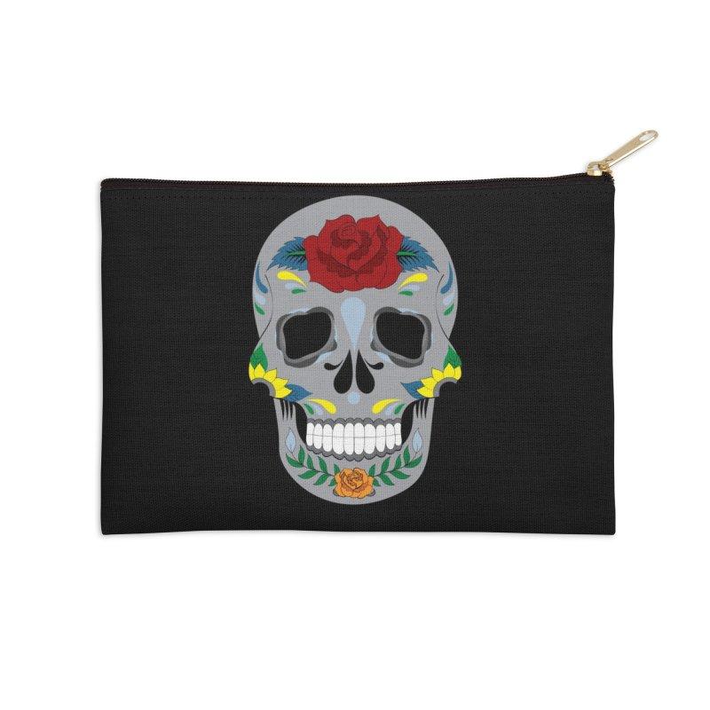 Sugar Skull Accessories Zip Pouch by Working Whatnot's Artist Shop