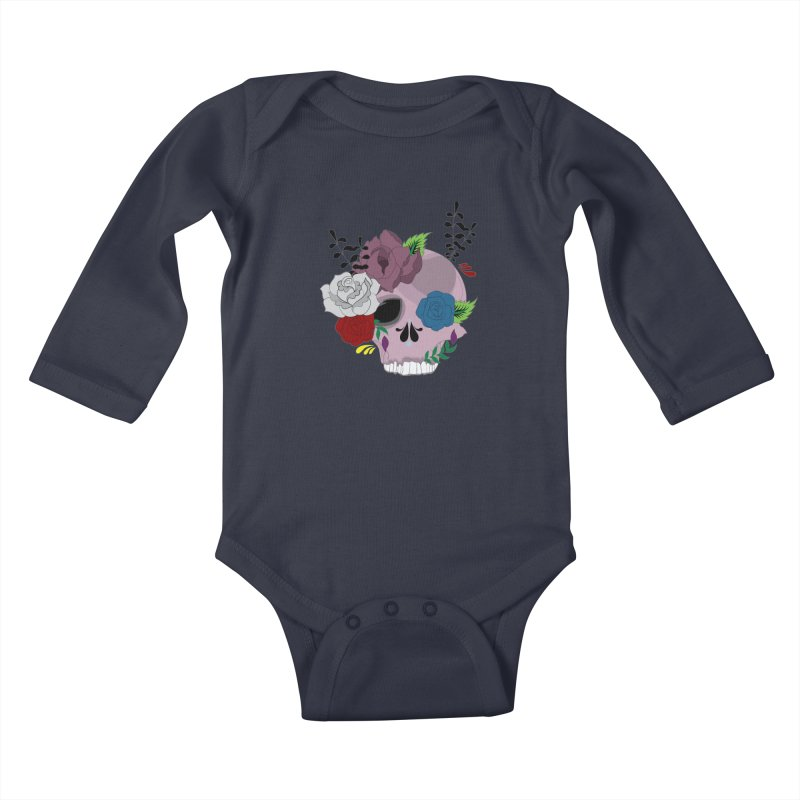 Pink Sugar Candy 2 Kids Baby Longsleeve Bodysuit by Working Whatnot's Artist Shop