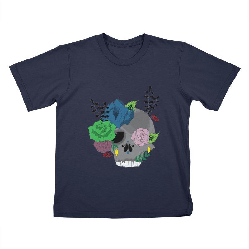 Dark Grey Sugar Candy 2 Kids T-Shirt by Working Whatnot's Artist Shop