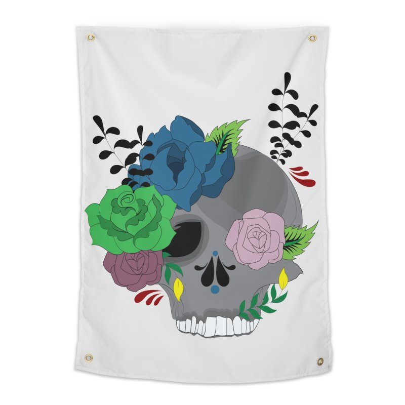 Dark Grey Sugar Candy 2 Home Tapestry by Working Whatnot's Artist Shop