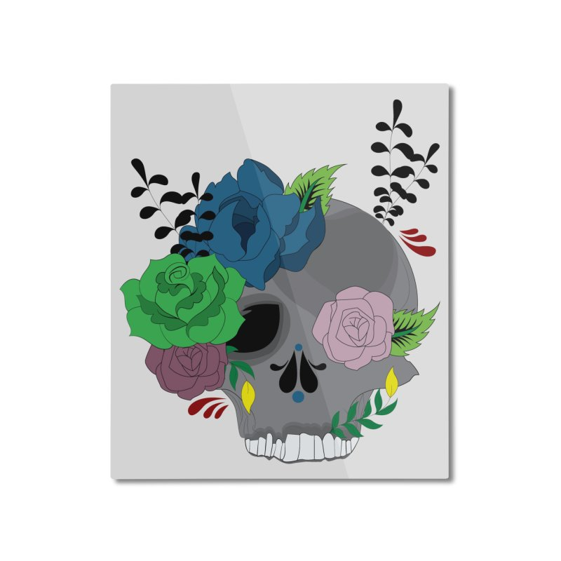 Dark Grey Sugar Candy 2 Home Mounted Aluminum Print by Working Whatnot's Artist Shop