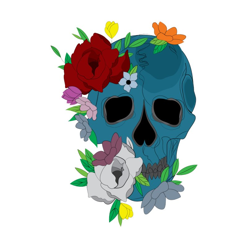 Blue Skull Candy Accessories Face Mask by Working Whatnot's Artist Shop