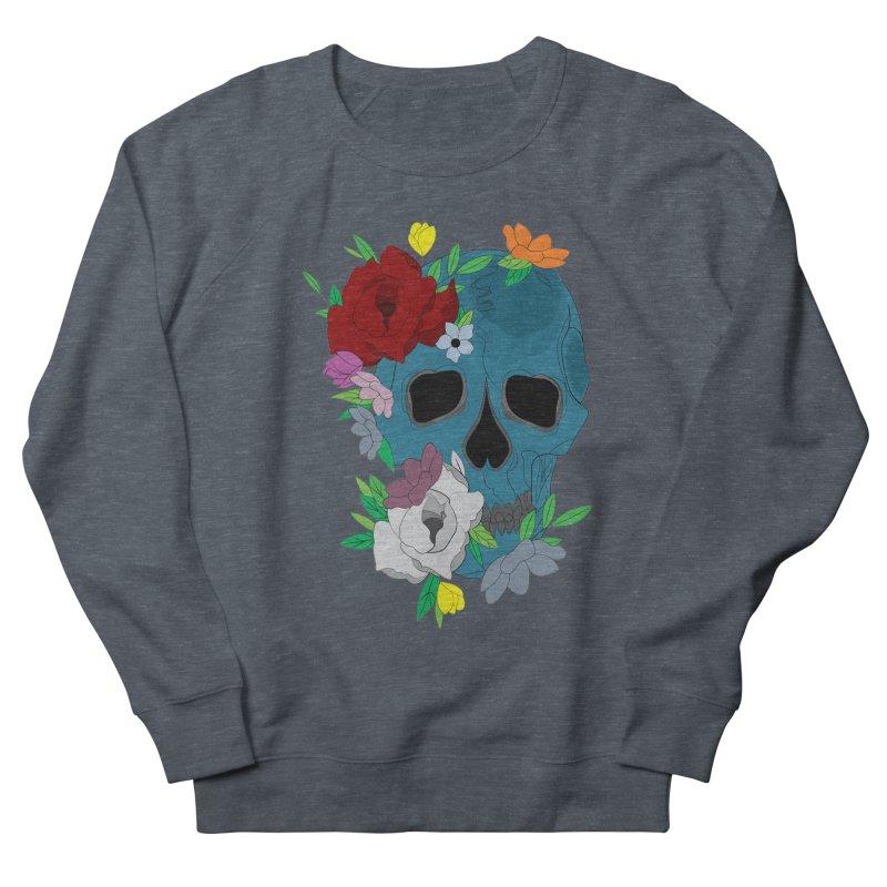 Blue Skull Candy Men's Sweatshirt by Working Whatnot's Artist Shop