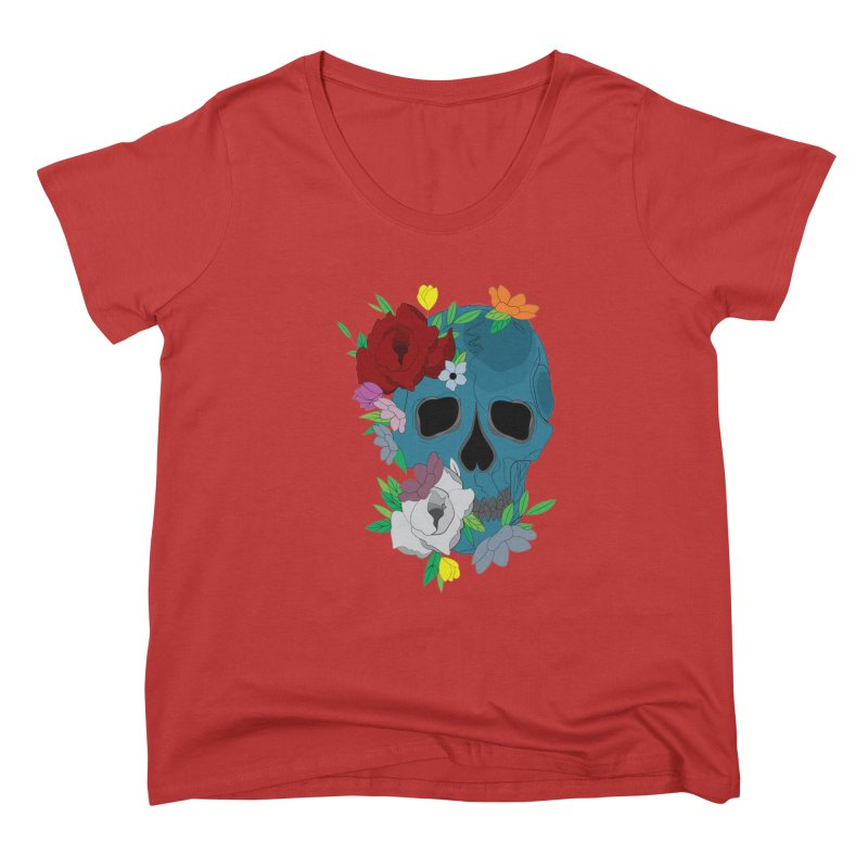 Blue Skull Candy Women's Scoop Neck by Working Whatnot's Artist Shop