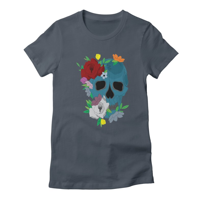 Blue Skull Candy Women's T-Shirt by Working Whatnot's Artist Shop