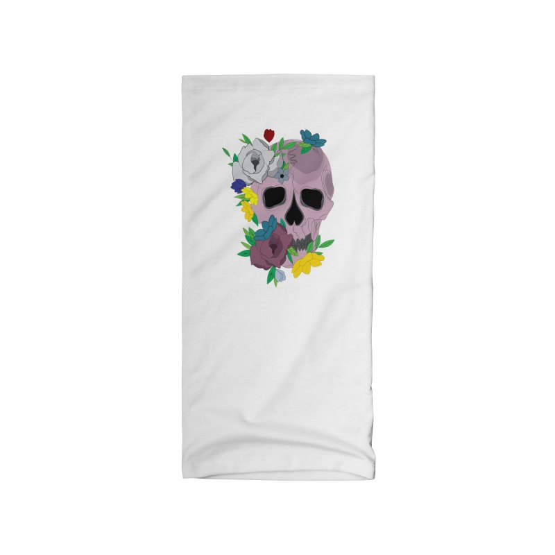 Pink Skull Candy Accessories Neck Gaiter by Working Whatnot's Artist Shop