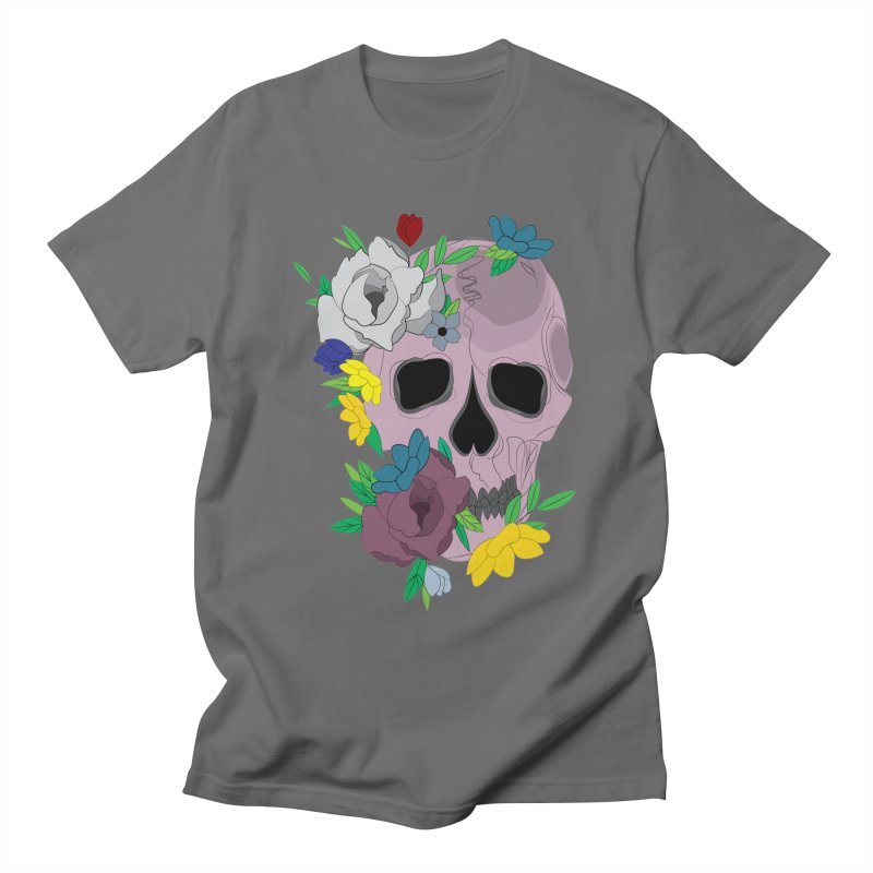 Pink Skull Candy Men's T-Shirt by Working Whatnot's Artist Shop