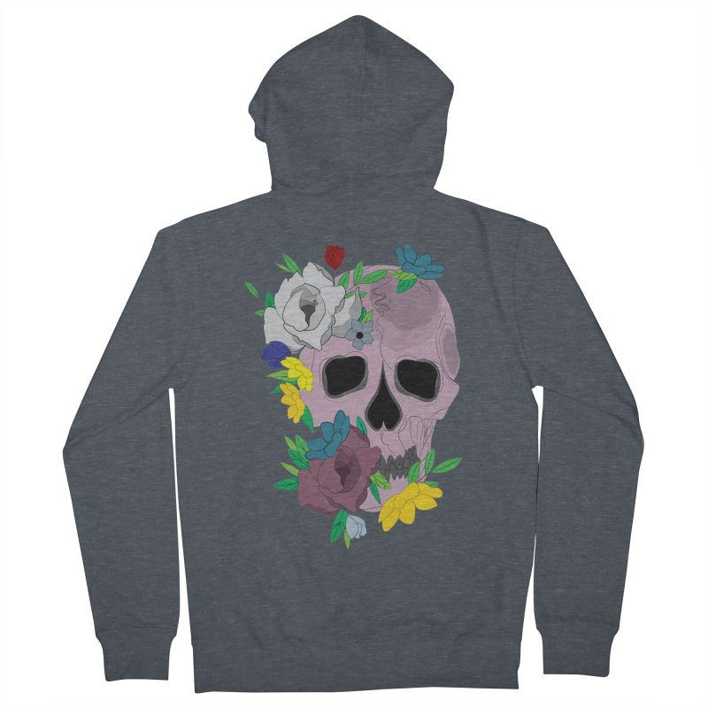 Pink Skull Candy Women's Zip-Up Hoody by Working Whatnot's Artist Shop