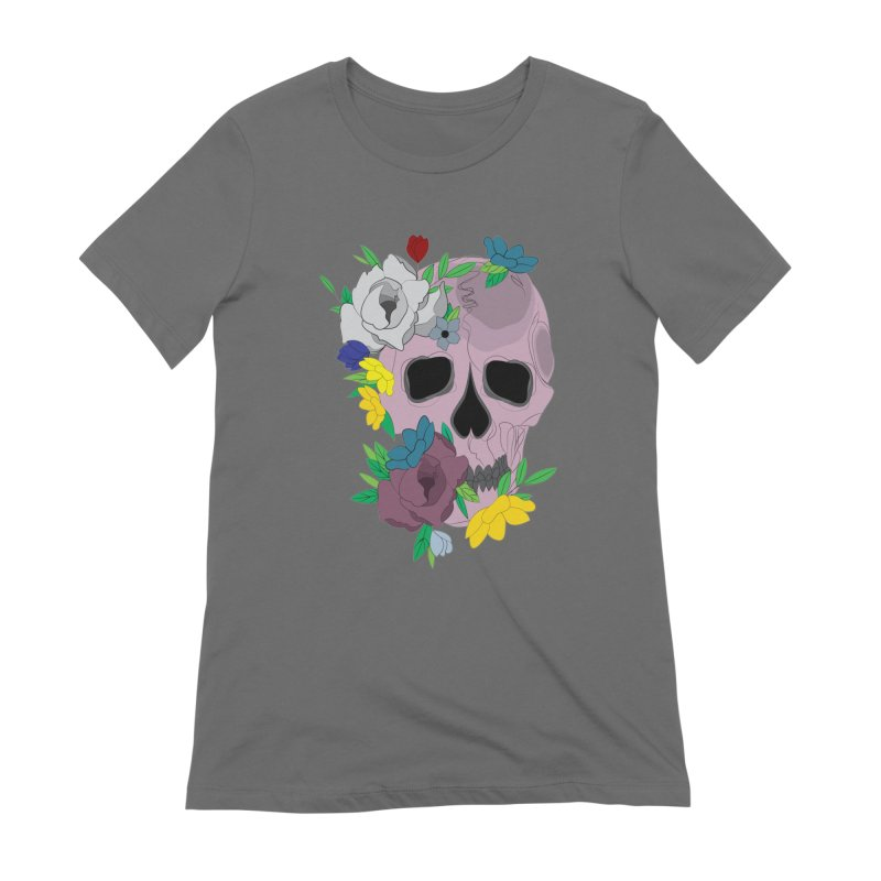 Pink Skull Candy Women's T-Shirt by Working Whatnot's Artist Shop