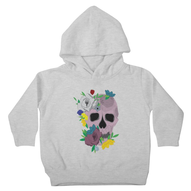 Pink Skull Candy Kids Toddler Pullover Hoody by Working Whatnot's Artist Shop