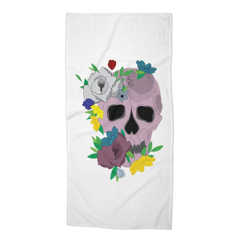 Pink Skull Candy Accessories Beach Towel by Working Whatnot's Artist Shop